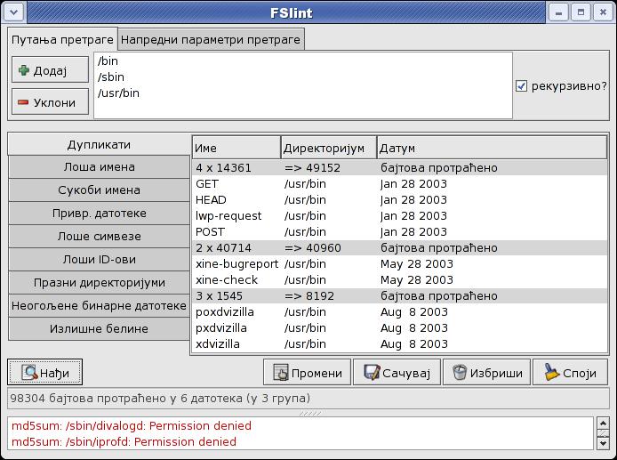 FSlint - Duplicate file finder for linux